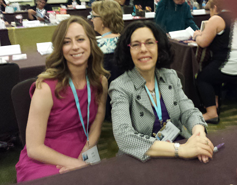 Romance authors Julie James and Ruth Kaufman