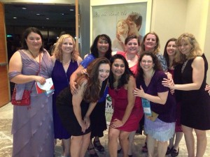 Pictured (clockwise from left): 2013 GH finalist India Powers with fellow Chicago-North and Windy City RWA members: Robin Skylar, CJ Warrant, Cici Edward, Denise DiLeo, Kat Bauer, Clara Kensie, Sarah Kayes, 2013 GH finalist Sonali Dev, and Savannah Foxx.